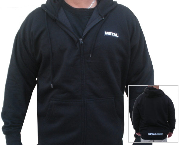Mens METAL Zippered Hoodie