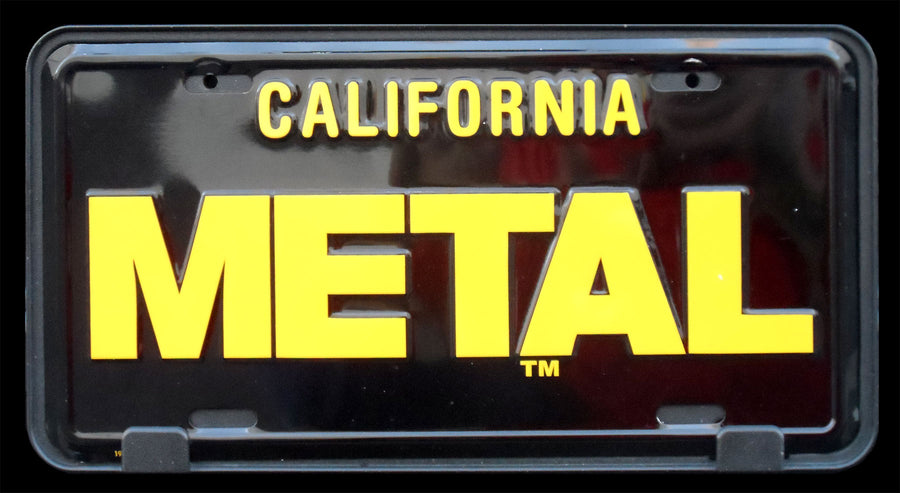 METAL License Plate California