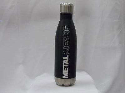 METAL aluminum 16 oz. whiskey bottle