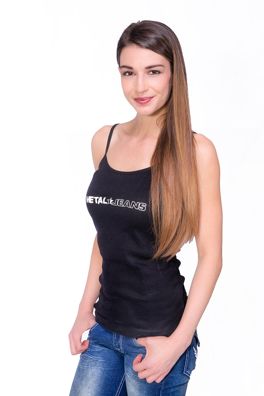 Women's Metal Jeans Logo Tank Top