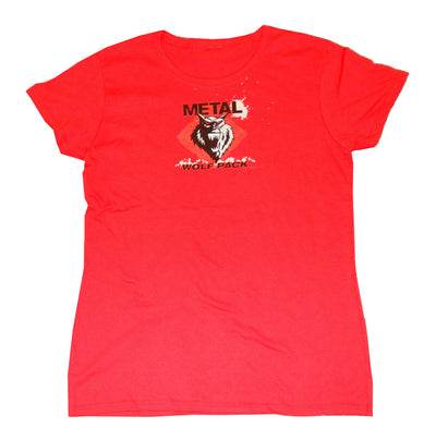 Girls Small Wolf Pack Red