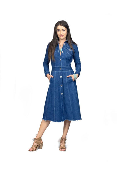 LITTLE WING DENIM DRESS