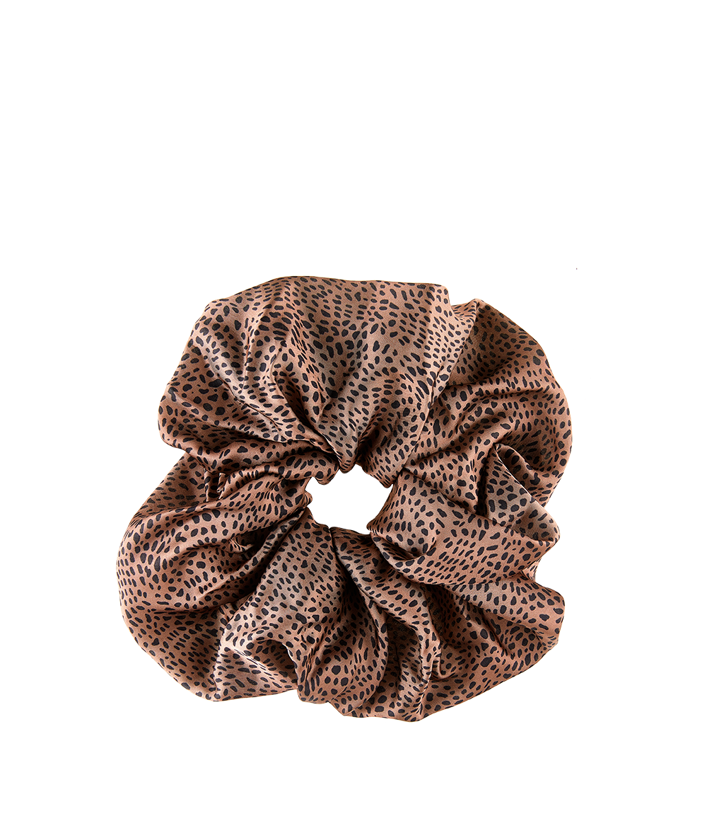 Oversized Satin Scrunchie Cheetah