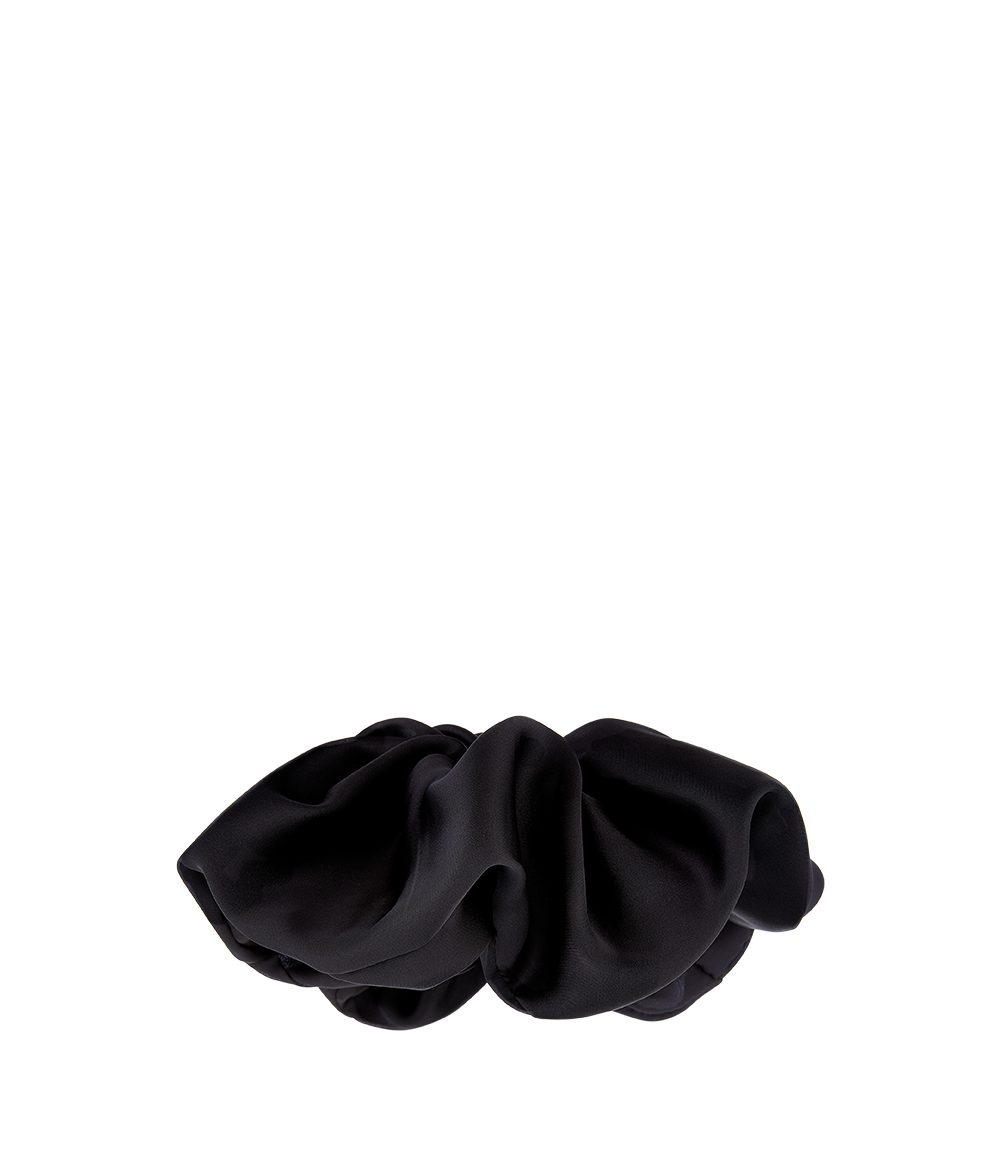 Oversized Satin Scrunchie Black