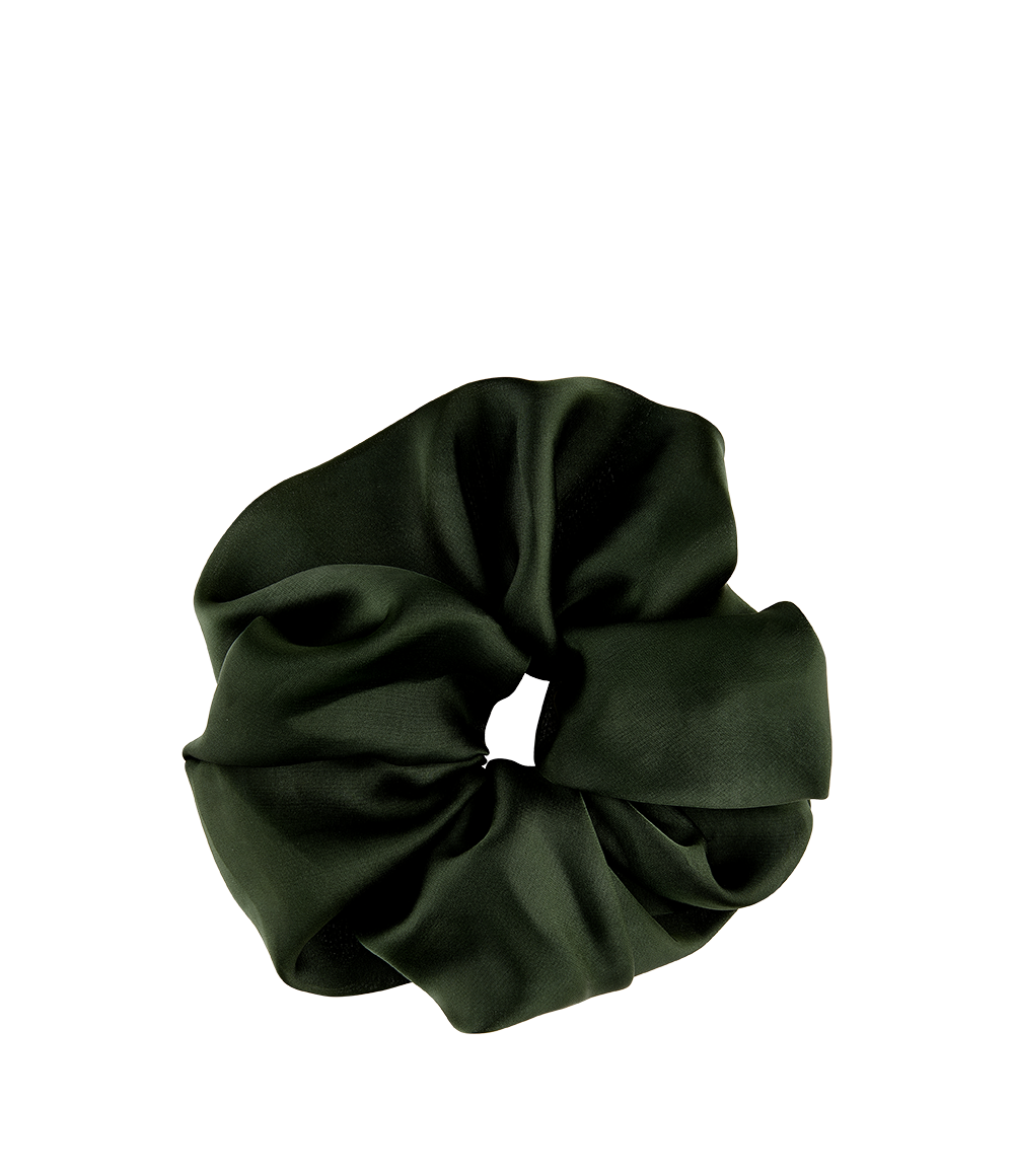 Oversized Satin Scrunchie Emerald