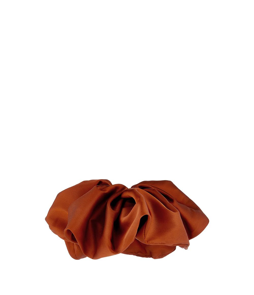 Oversized Satin Scrunchie Rust