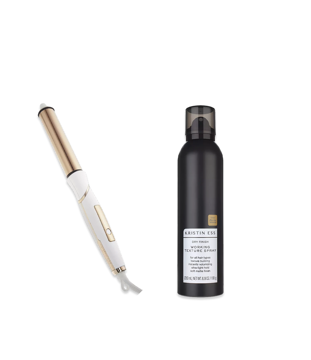 Kristin Ess Hair Soft Waves Set Bundle featuring Curling Iron and Working Texture Spray