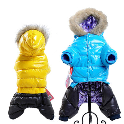 SUPER WARM AND WATERPROOF DOWN JACKET WITH HOODIES FOR SMALL DOGS