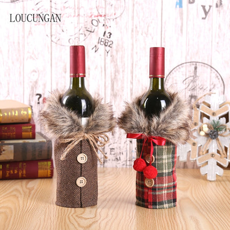 NEW AND UNIQUE CHRISTMAS WINE BOTTLE WRAP AND DECORATION