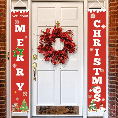 BEST SELLING CHRISTMAS DECORATIVE DOOR BANNER