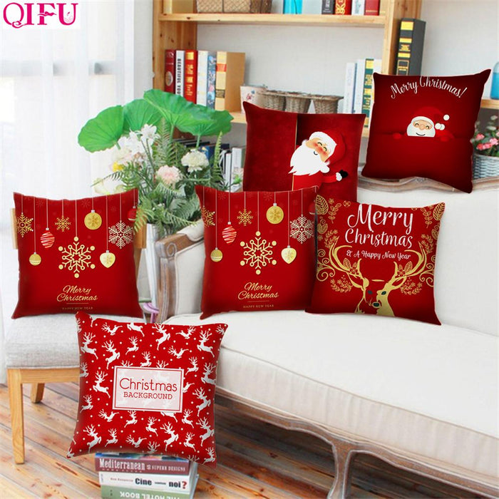 STUNNING SNOWFLAKE, SANTA CLAUS, CHRISTMAS PILLOWCASE HOME DECOR