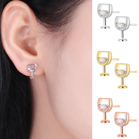 FASHIONABLE WINE GLASS EARRINGS