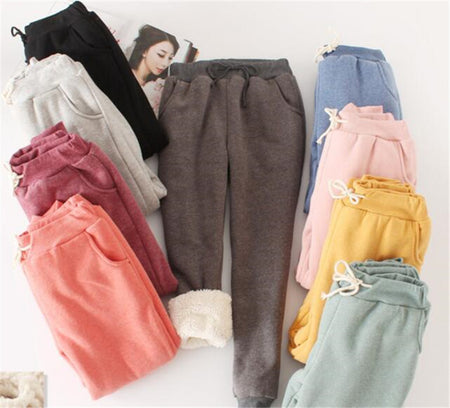 MUST HAVE WINTER THICK LAMBSKIN CASHMERE PANTS FOR WOMEN