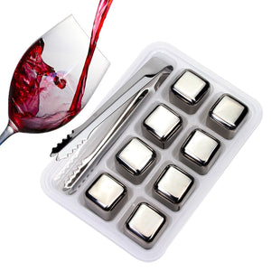 ORIGINAL DURABLE, FOOD SAFE AND ECO-FRIENDLY STAINLESS STEEL ICE CUBES