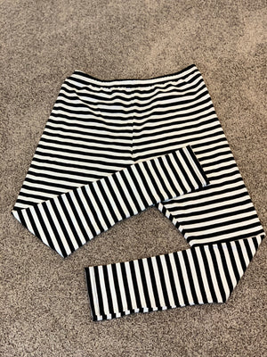 Black and white striped leggings - Long