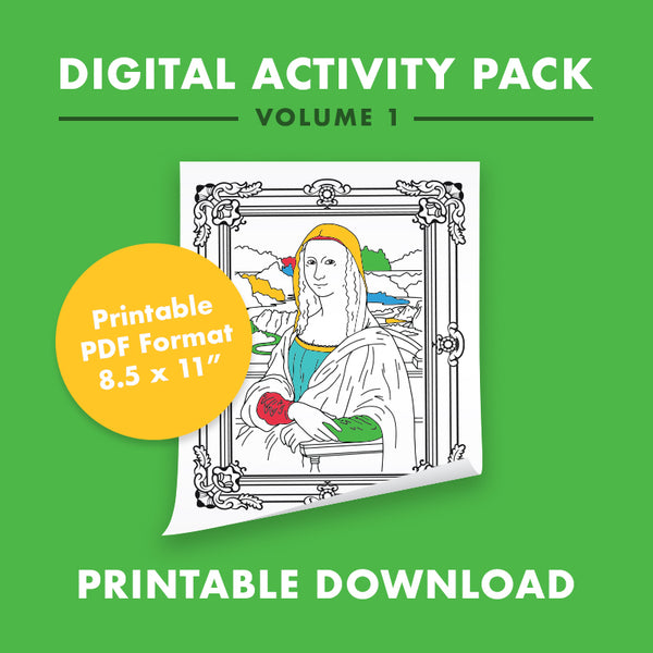 10 Page Printable PDF - Coloring and Activity Pack: Volume 1