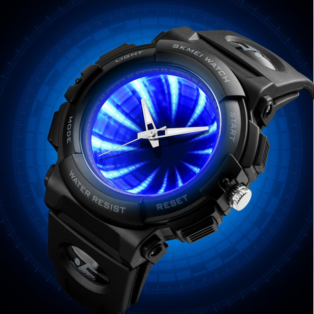 Led Backlight Men Sport Watches