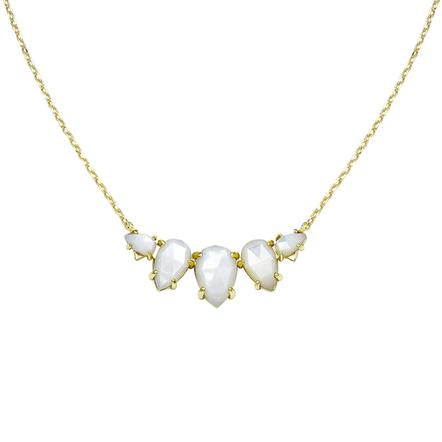 DAYDREAMER NECKALCE IVORY PEARL AND GOLD