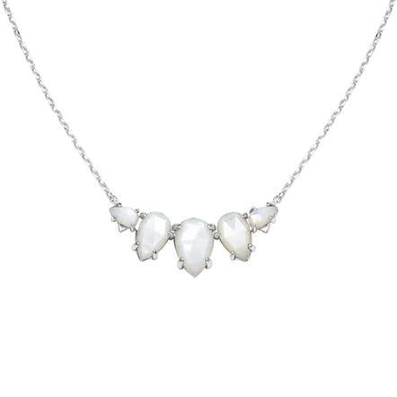 DAYDREAMER NECKLACE IVORY PEARL AND SILVER