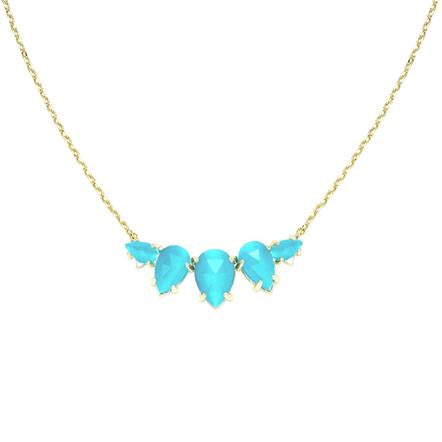 DAYDREAMER NECKLACE BLUE CHALCEDONY AND GOLD