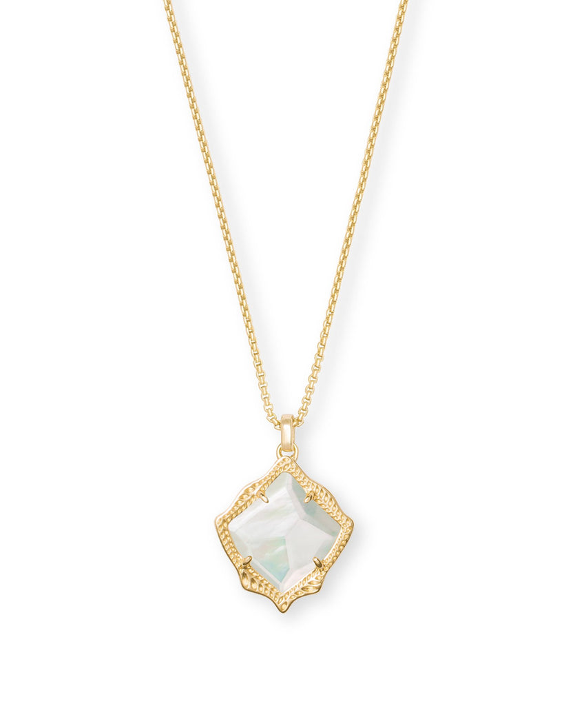 Kacey Necklace in Gold Ivory MOP
