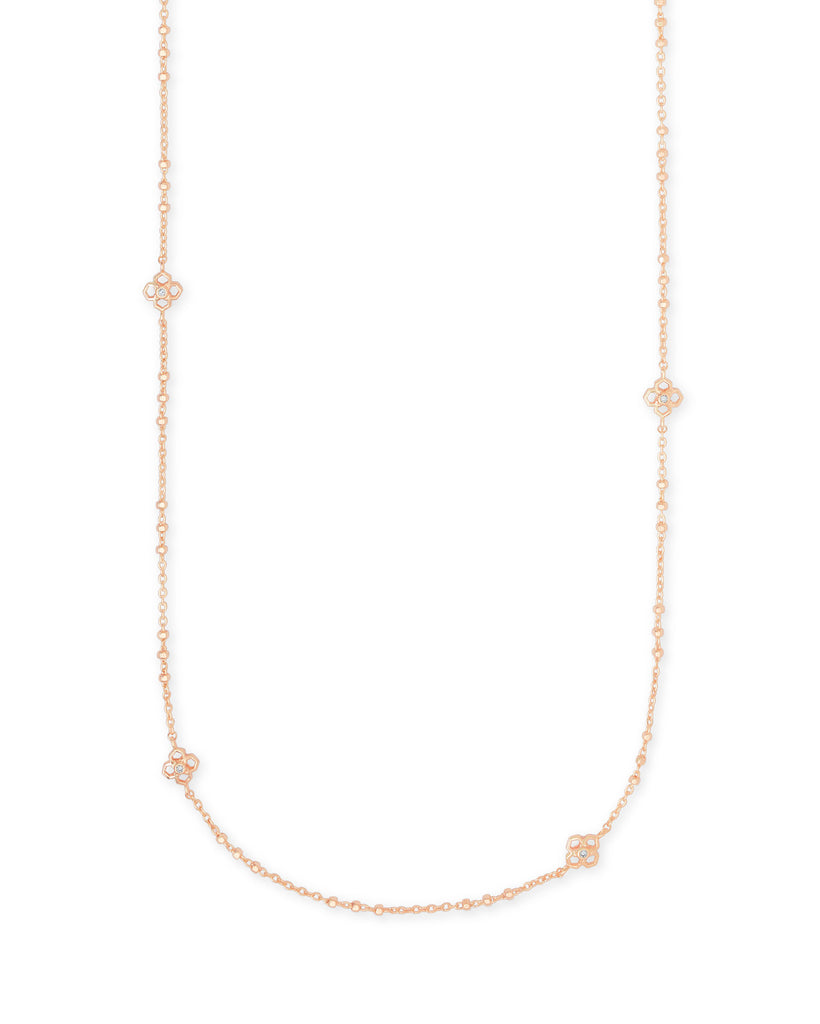 Rue Long Necklace in Rose Gold