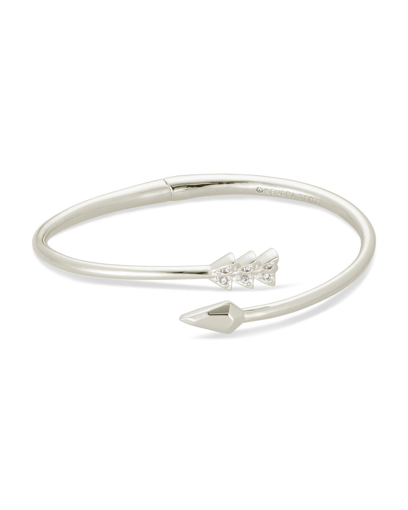 Zoey Bangle Bracelet In Silver