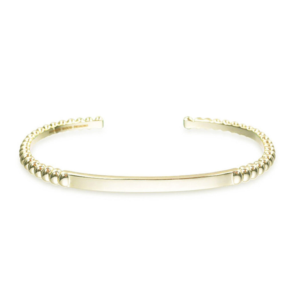 BEADED STACKING CUFF BRACELET GOLD