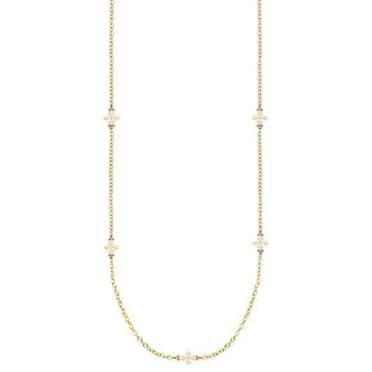 BELIEVER GOLD CROSS STATION NECKLACE