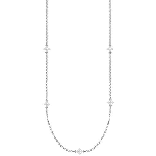 BELIEVER SILVER  CROSS STATION NECKLACE