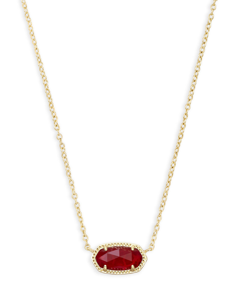 Elisa Necklace in Gold Ruby Red