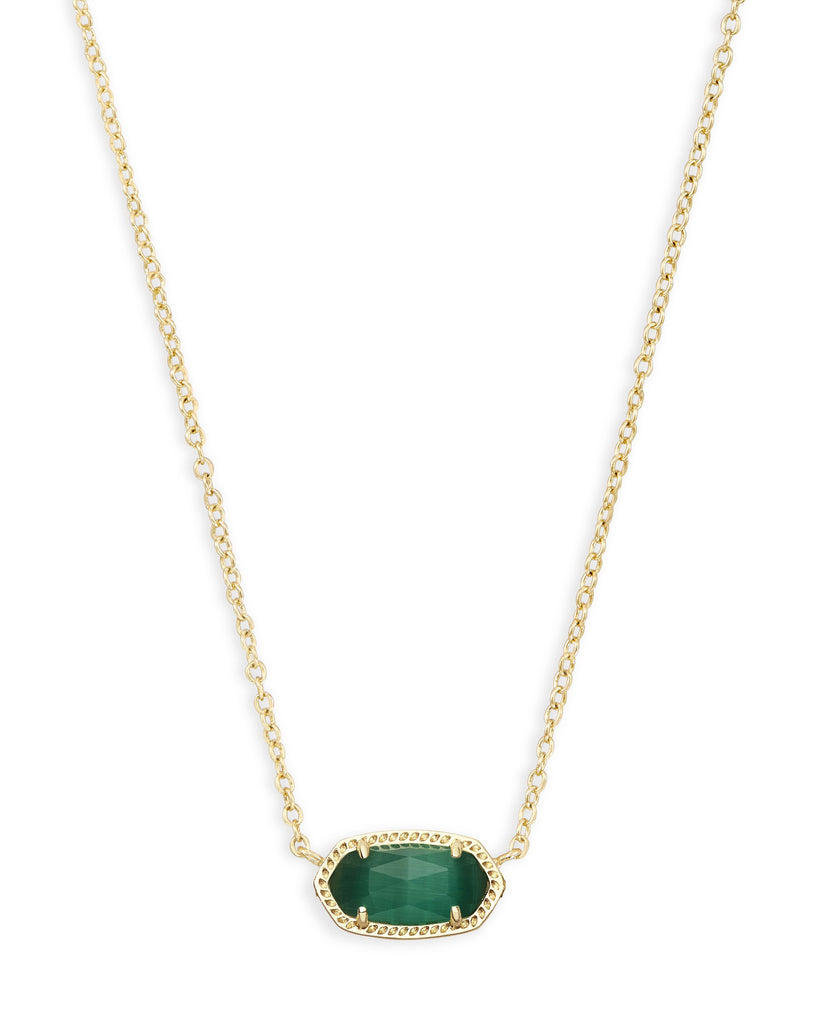Elisa Necklace in Gold Emerald