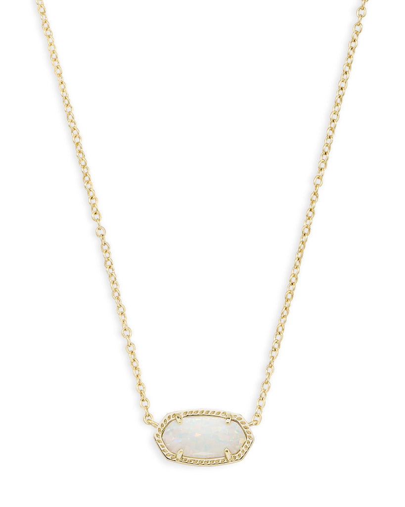 Elisa Necklace in Gold White Opal