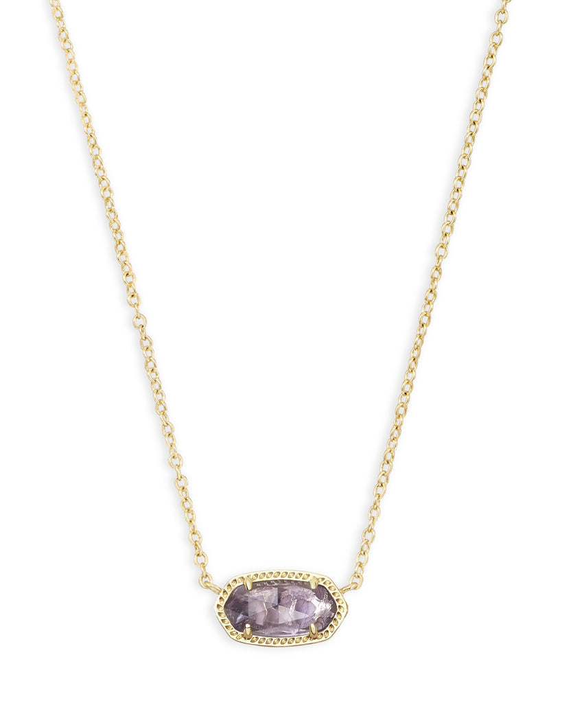 Elisa Necklace in Gold Purple Amethyst