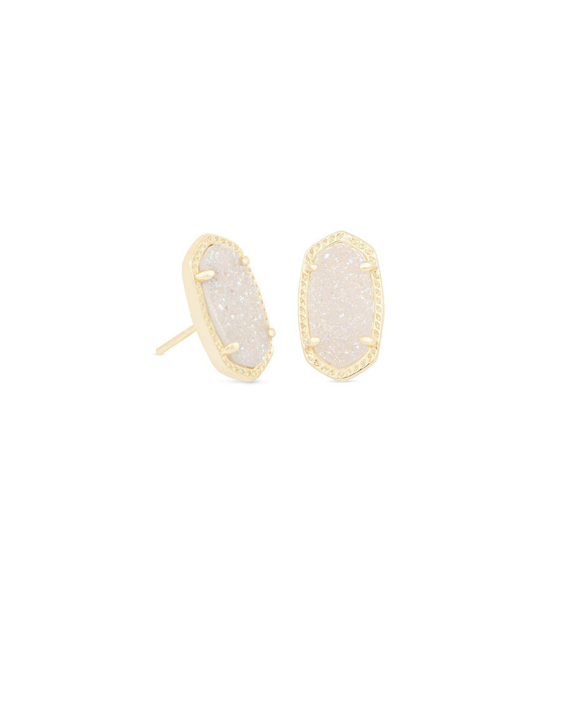 Ellie Earring in Gold Iridescent Drusy