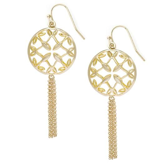 GRACE GOLD MINI TASSEL EARRINGS