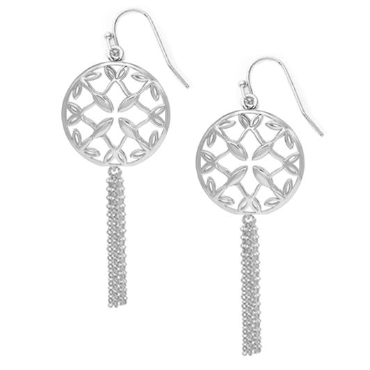 GRACE SILVER  MINI TASSEL EARRINGS