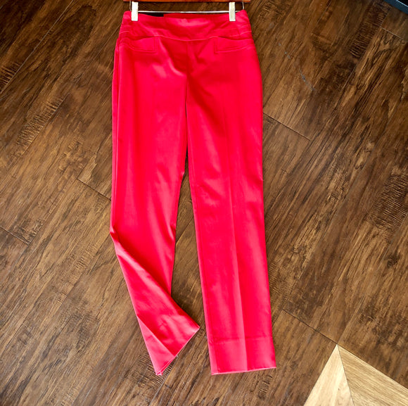Renuar Lipstick Pull on Ankle  Pants