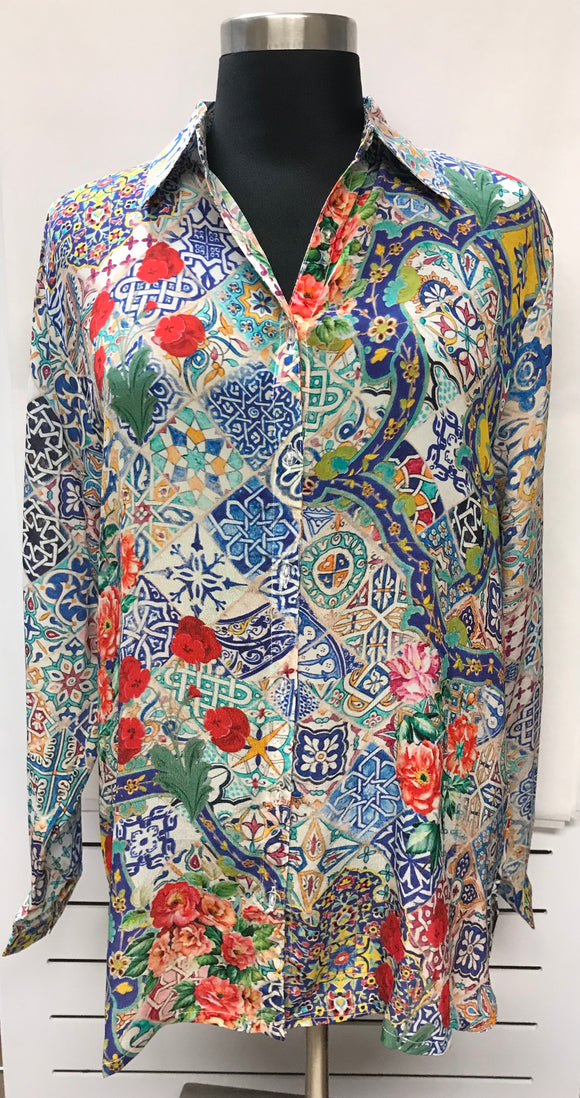 Floral Multi-Colored Tunic