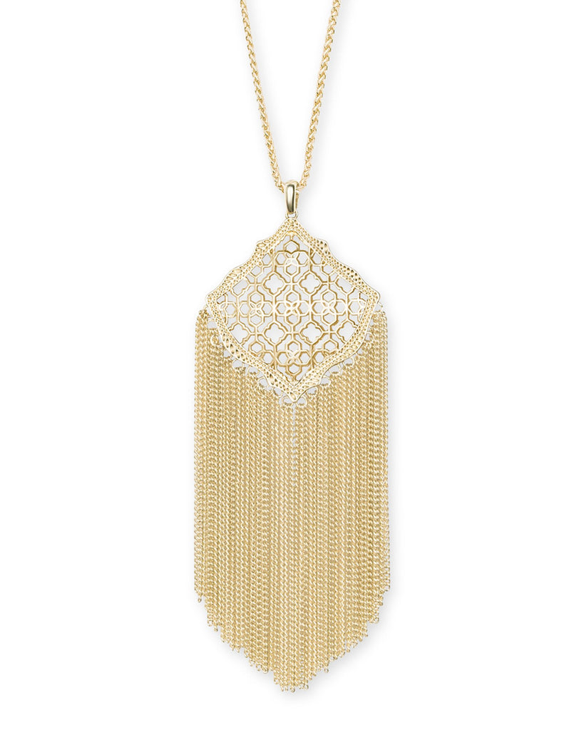 Kingston Necklace in Gold Filigree