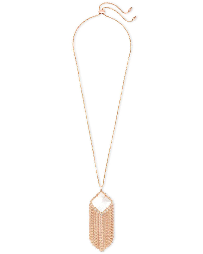 Kingston Necklace in Rose Gold Ivory MOP