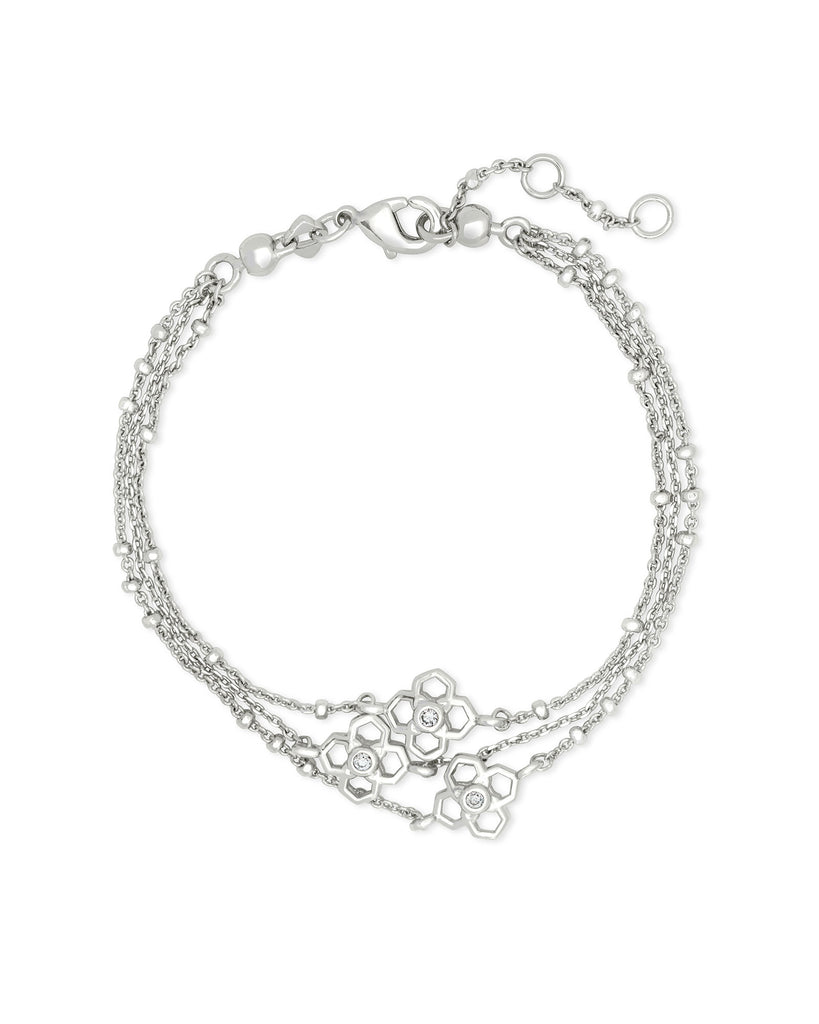 Rue Multi Strand Bracelet in Rhodium