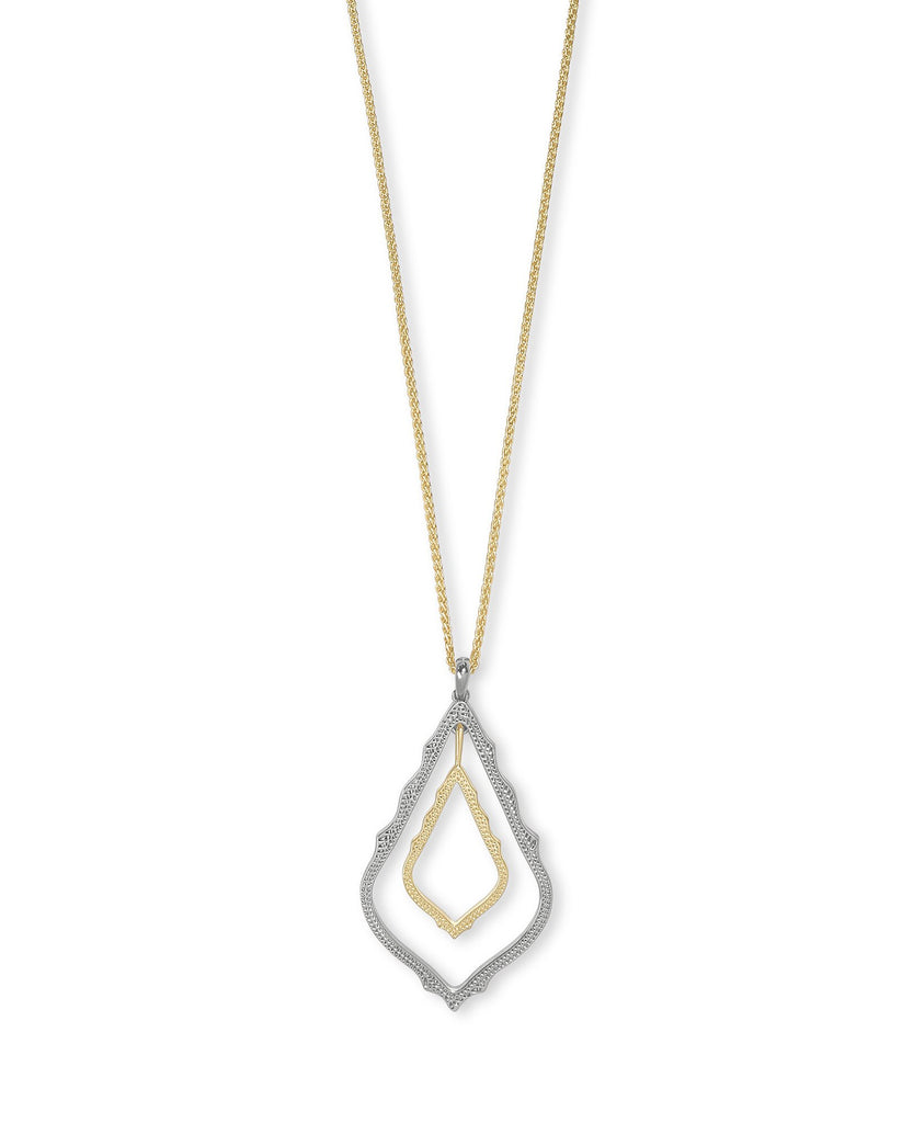 Simon Necklace in Rhodium/Gold