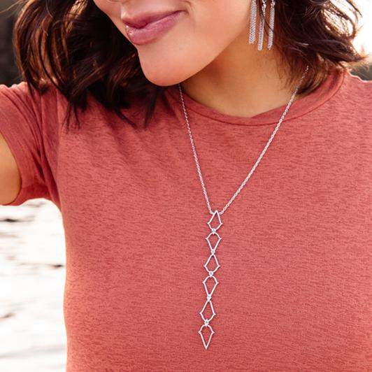 SOUTHERN CHARM SILVER LARIAT NECKLACE