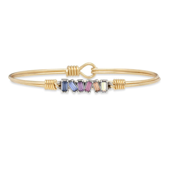 Mini Hudson Bangle Bracelet in Light Ombre