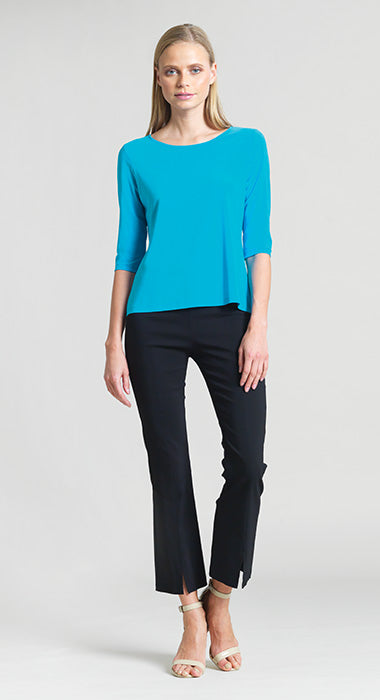 Solid Basic Scoop Neck Half Sleeve Top