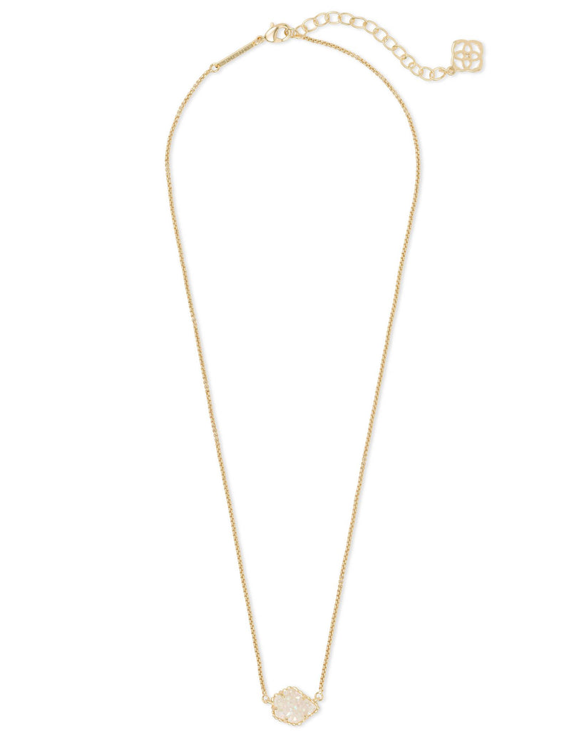 Tess Necklace in Gold Iridescent Drusy