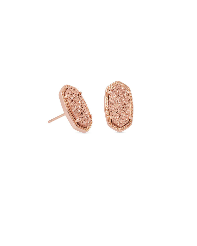 Ellie Earring in Rose Gold Drusy