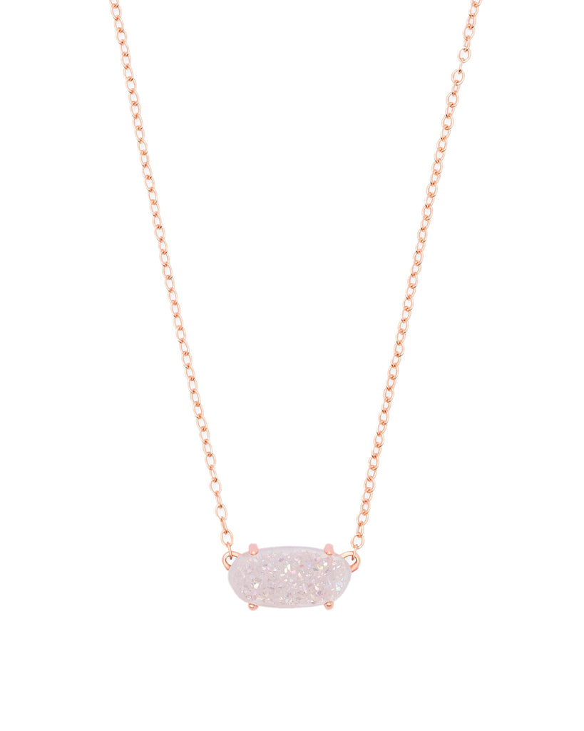 Ever Necklace in Rose Gold Iridescent Drusy