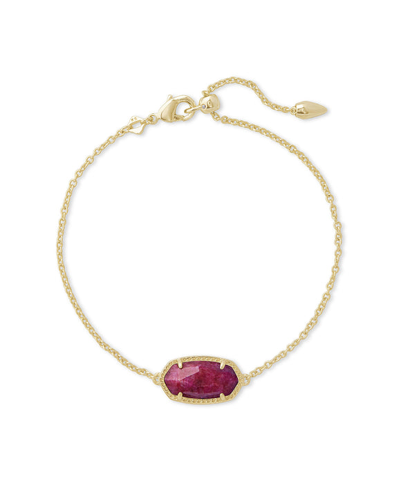 ELAINA BRACELET IN GOLD AND RASPBERRY LABRADORITE